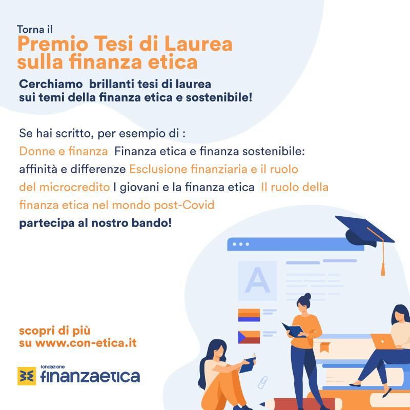 Premio Tesi di Laurea sulla finanza etica 2021